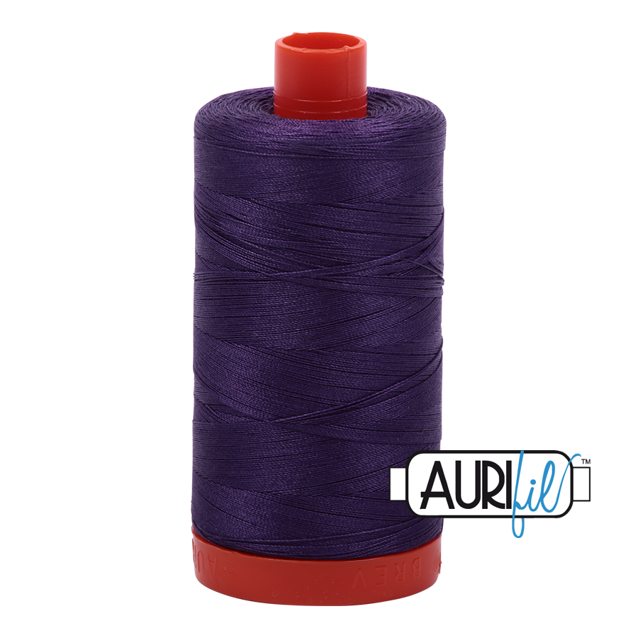 Col. #2582 Dark Violet - Aurifil 50 Weight