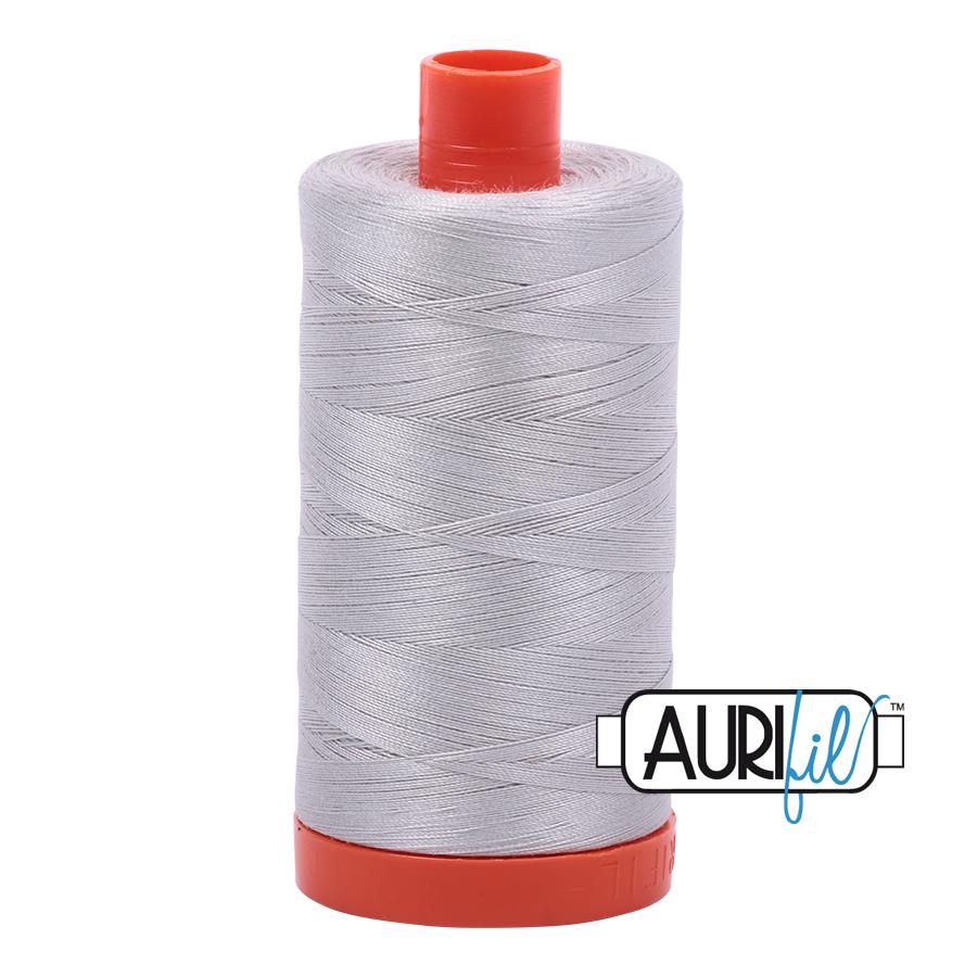 Col. #2615 Aluminum - Aurifil 50 Weight