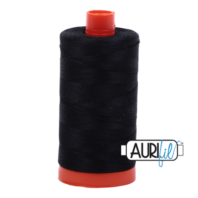 Col. #2692 Black - Aurifil 50 Weight