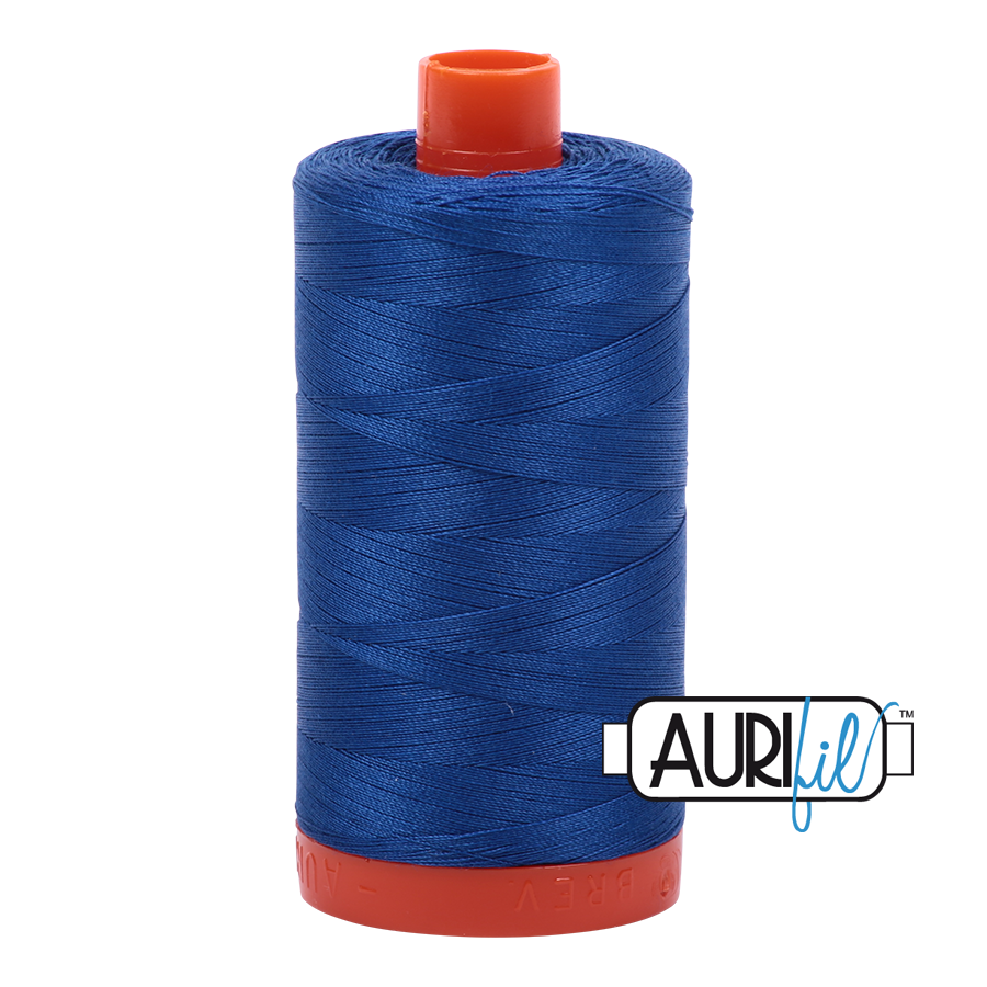 Col. #2735 Medium Blue - Aurifil 50 Weight