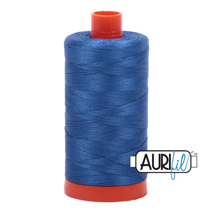 Col. #2730 Delft Blue - Aurifil 50 Weight