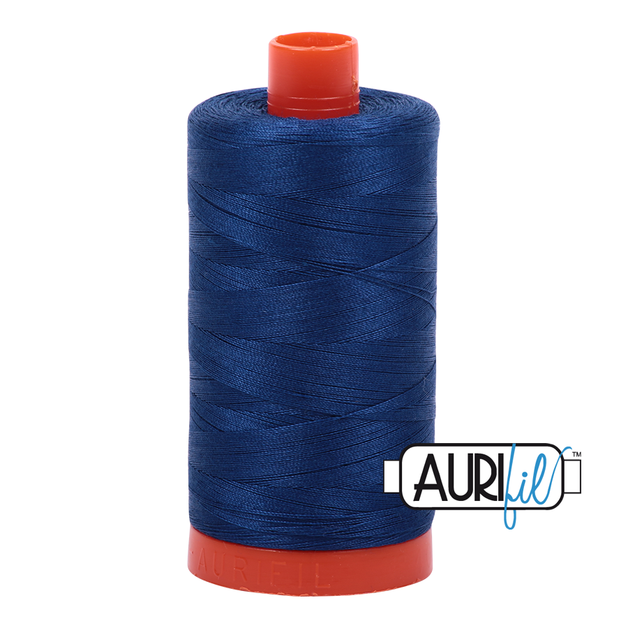 Col. #2780 Dark Delft Blue - Aurifil 50 Weight