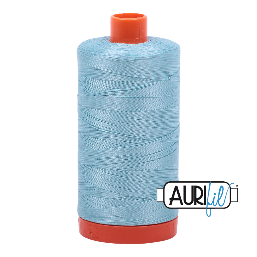 Col. #2805 Light Grey Turquoise - Aurifil 50 Weight
