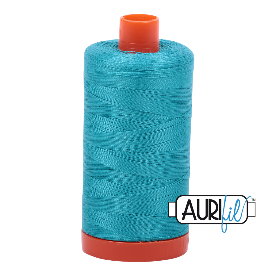 Col. #2810 Turquoise - Aurifil 50 Weight