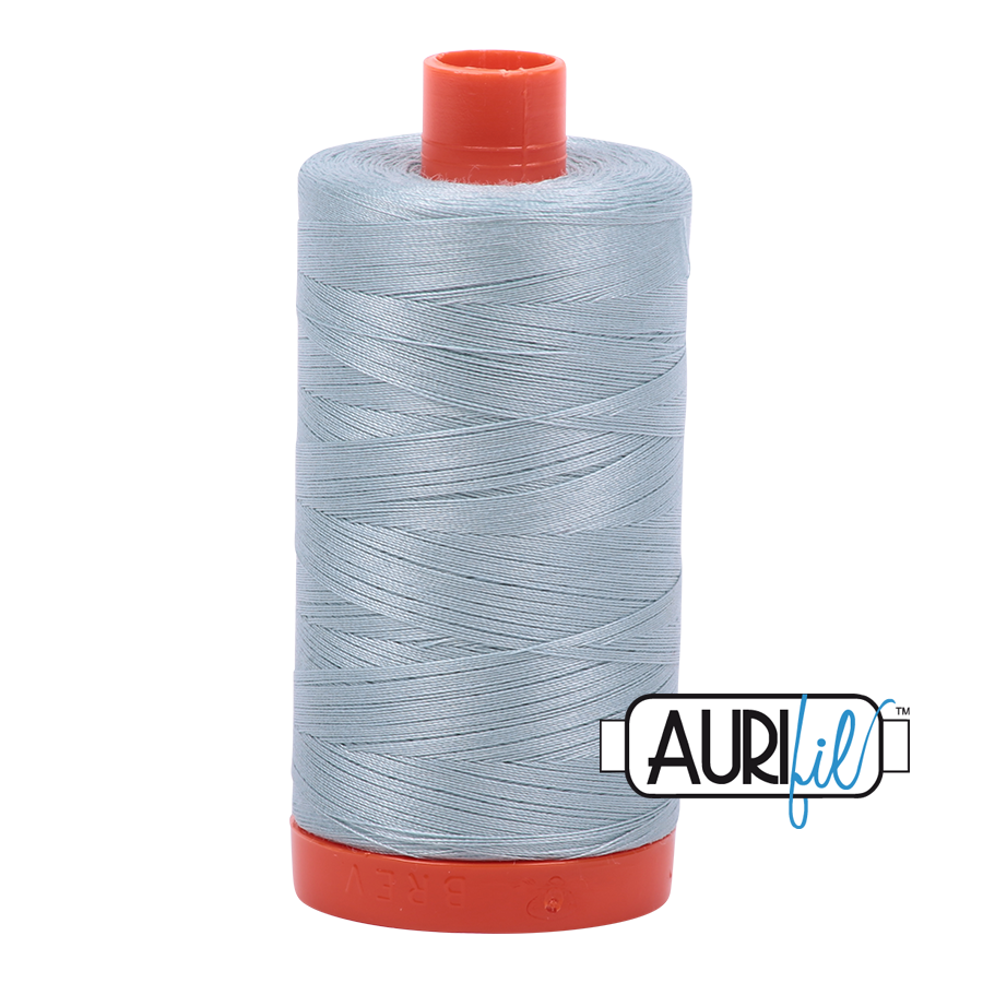 Col. #2847 Bright Grey Blue - Aurifil 50 Weight