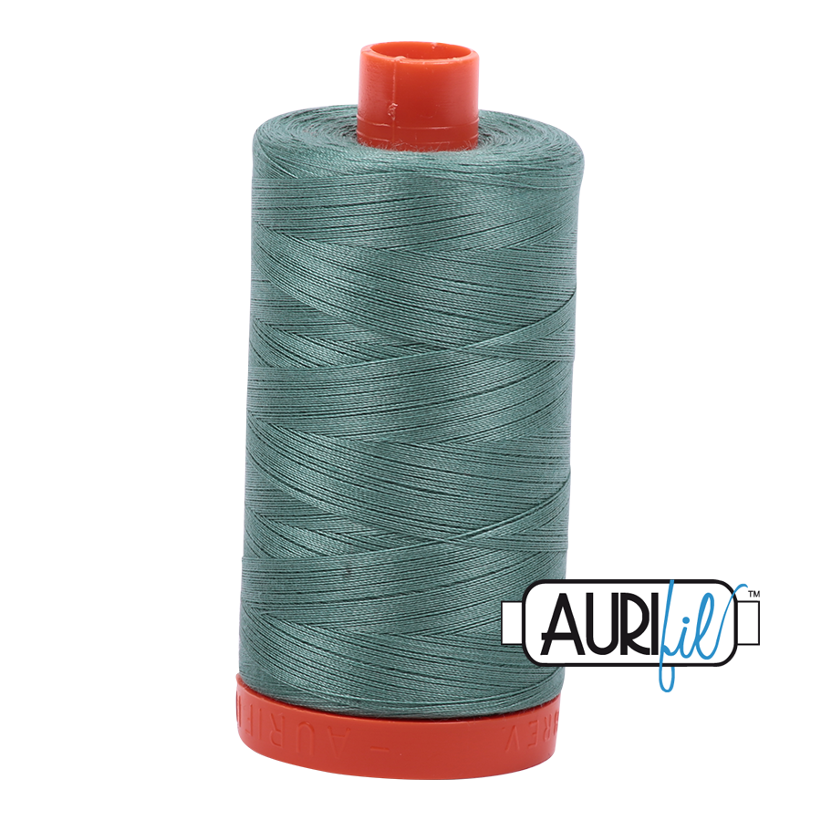 Col. #2850 Medium Juniper - Aurifil 50 Weight