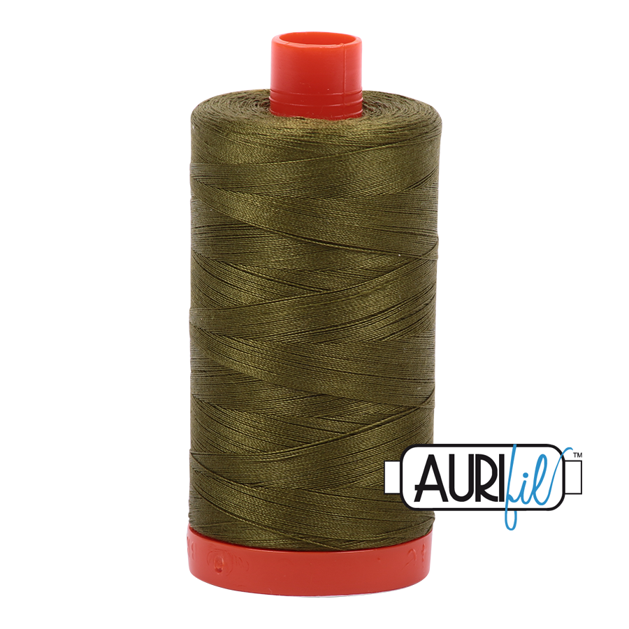 Col. #2887 Very Dark Olive - Aurifil 50 Weight