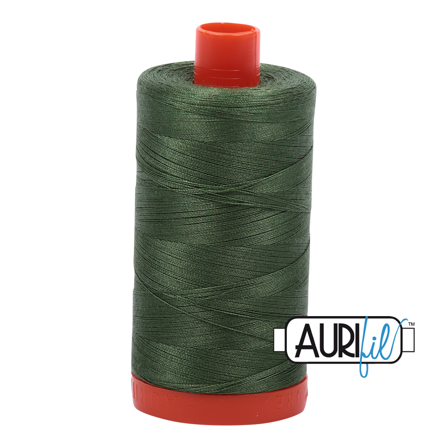 Col. #2890 Very Dark Grass Green - Aurifil 50 Weight