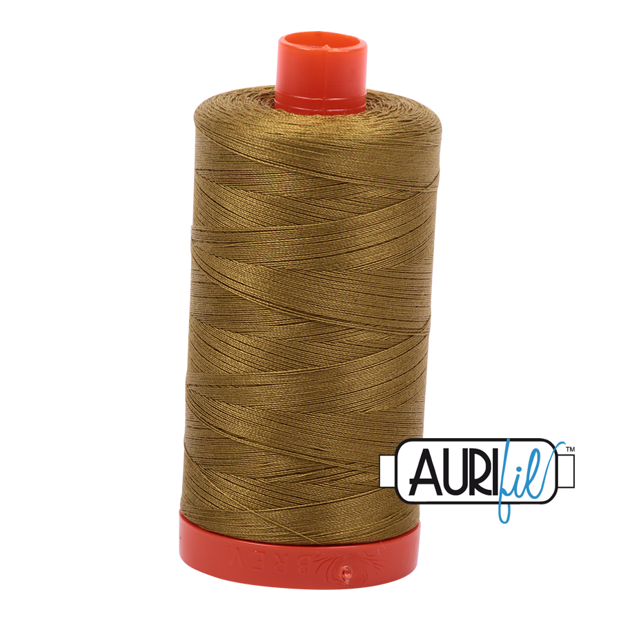 Col. #2910 Medium Olive - Aurifil 50 Weight
