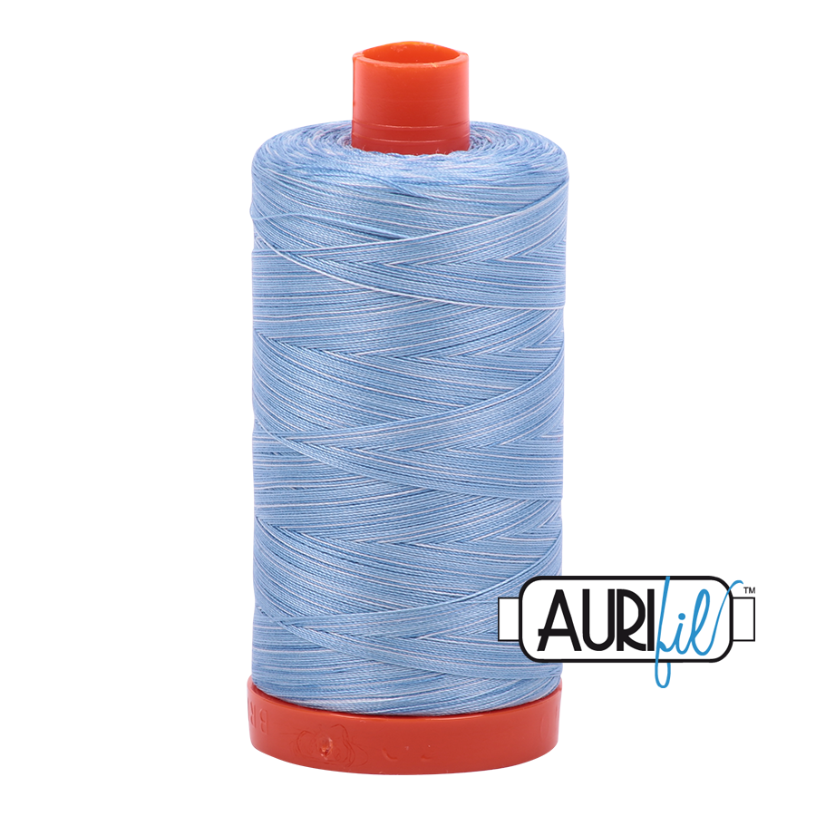 Col. #3770 Stone Washed Denim - Aurifil 50 Weight