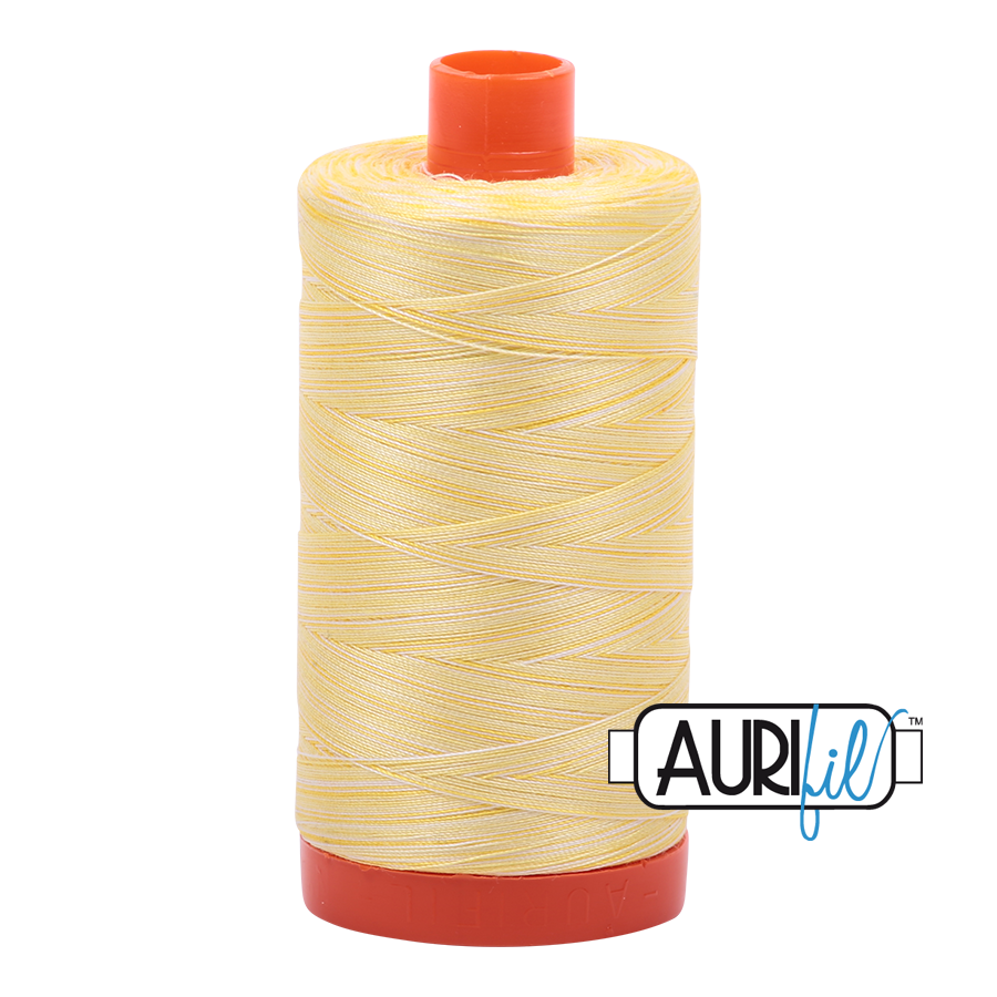 Col. #3910 Lemon Ice - Aurifil 50 Weight
