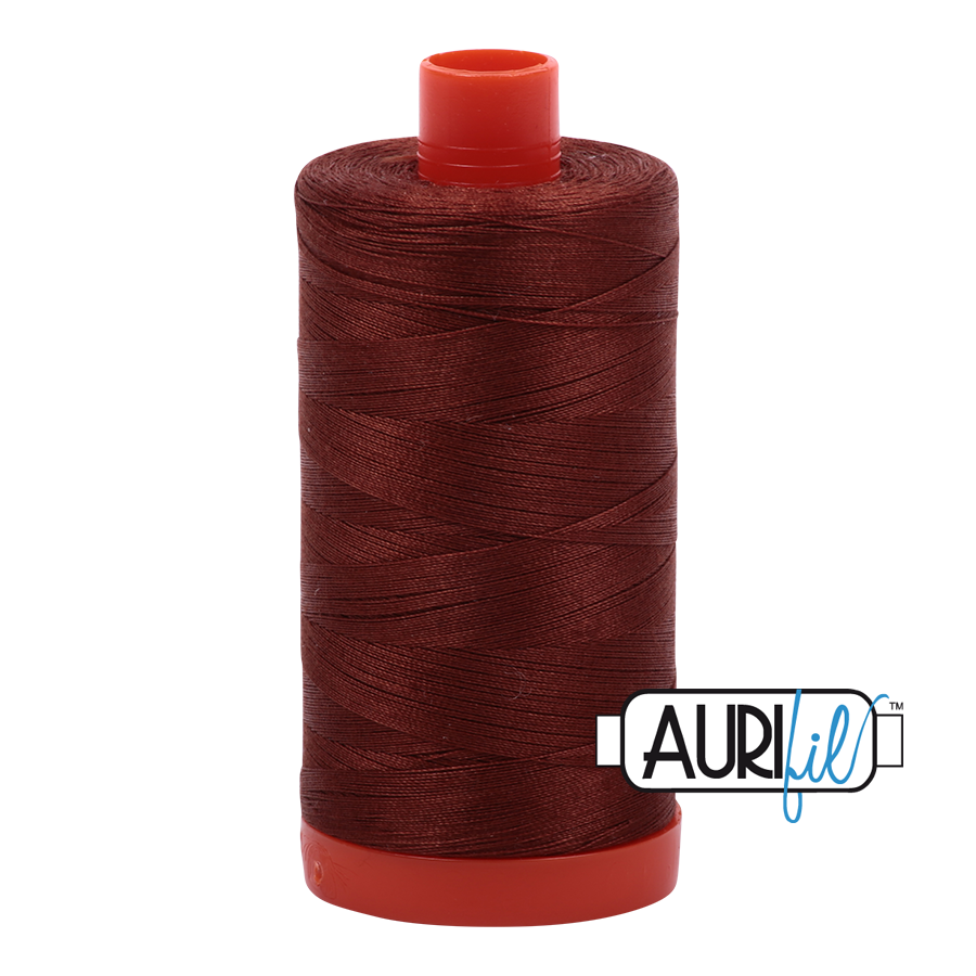 Col. #4012 Copper Brown - Aurifil 50 Weight