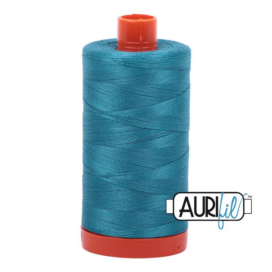 Col. #4182 Dark Turquoise - Aurifil 50 Weight