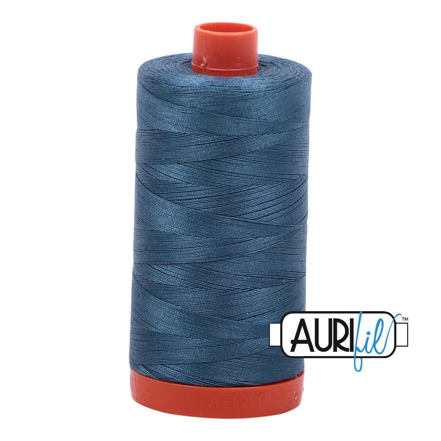 Col. #4644 Smoke Blue - Aurifil 50 Weight