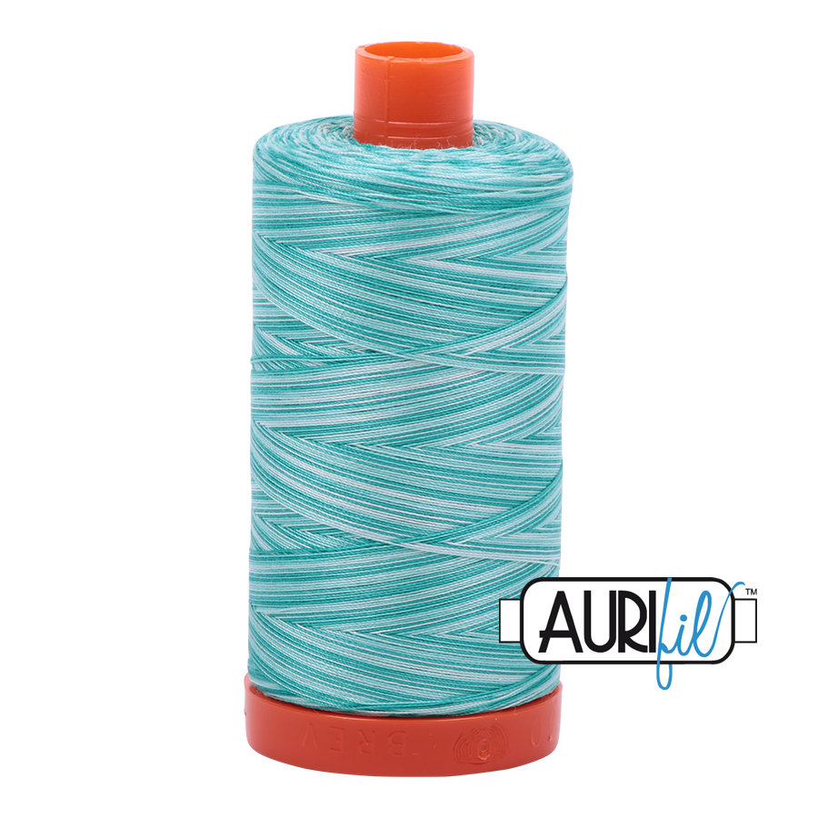 Col. #4654 Turquoise Foam - Aurifil 50 Weight