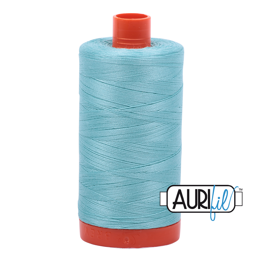 Col. #5006 Light Turquoise - Aurifil 50 Weight