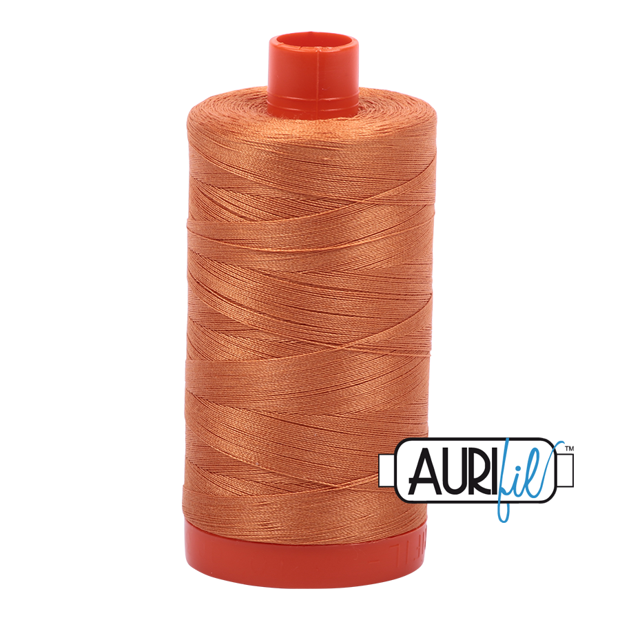 Col. #5009 Medium Orange - Aurifil 50 Weight