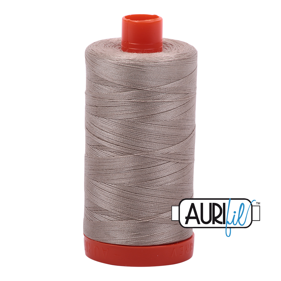 Col. #5011 Rope Beige - Aurifil 50 Weight