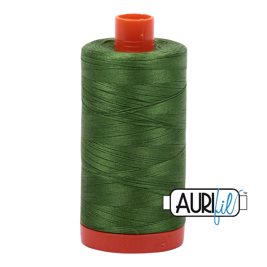 Col. #5018 Dark Grass Green - Aurifil 50 Weight