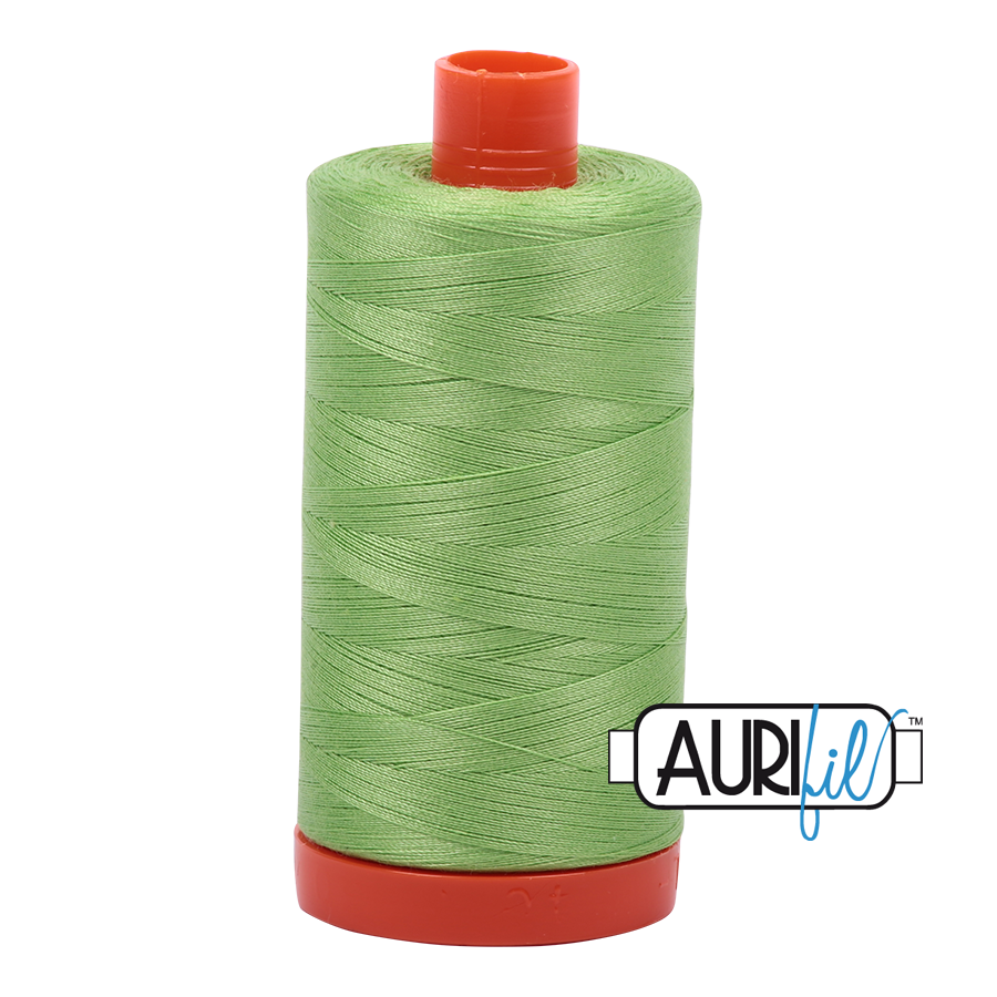 Col. #5017 Shining Green - Aurifil 50 Weight