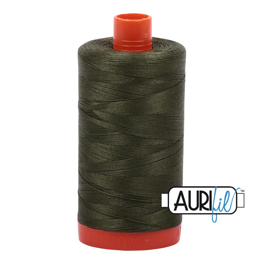 Col. #5023 Medium Green - Aurifil 50 Weight