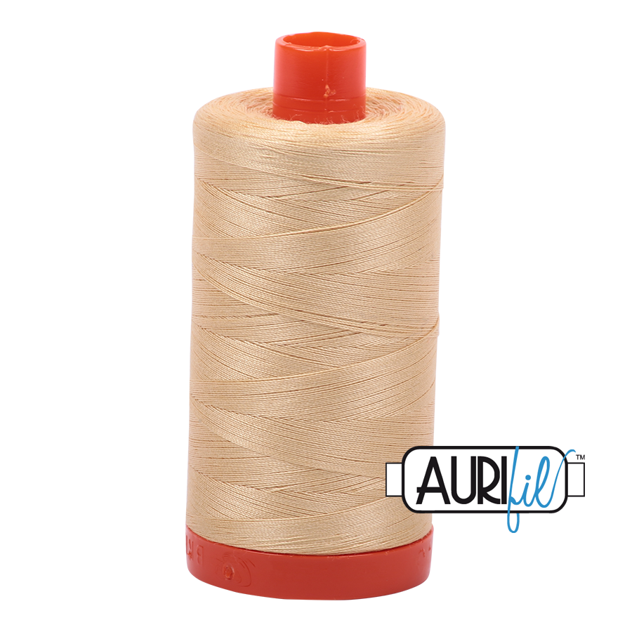 Col. #6001 Light Caramel - Aurifil 50 Weight