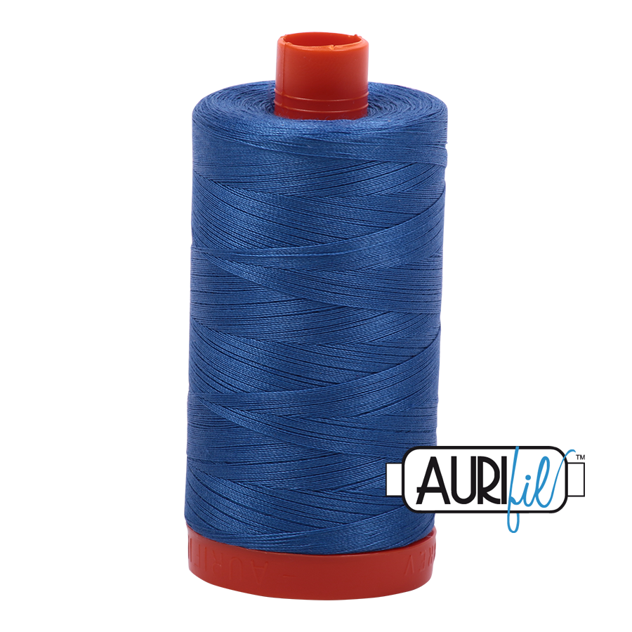 Col. #6738 Peacock Blue - Aurifil 50 Weight