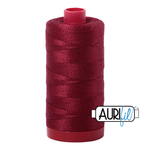 Col. #2460 Dark Carmine Red - Aurifil 12 Weight