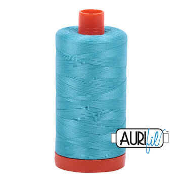 Col. #5005 Bright Turquoise - Aurifil 12 Weight