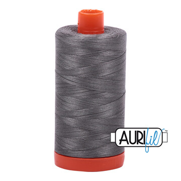 Col. #5004 Grey Smoke - Aurifil 12 Weight