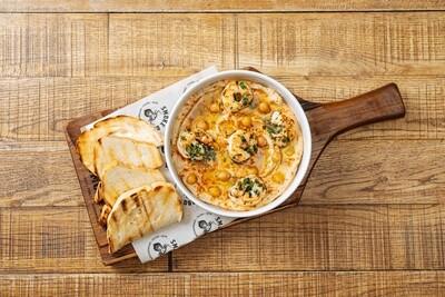 Ливанский хумус с креветками