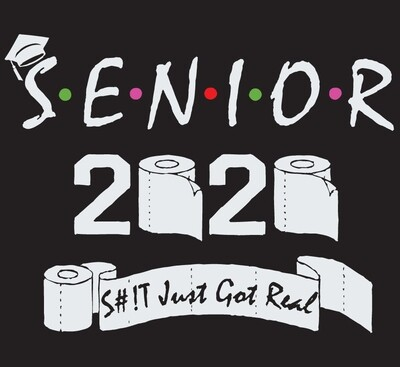 Class Of 2020 Senior S#!t Just Got Real T-Shirt