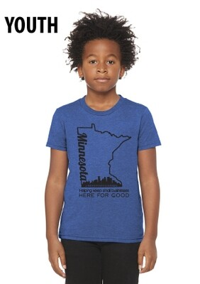 Here For Good Minnesota Soft Youth T-Shirt #HEREFORGOODMN