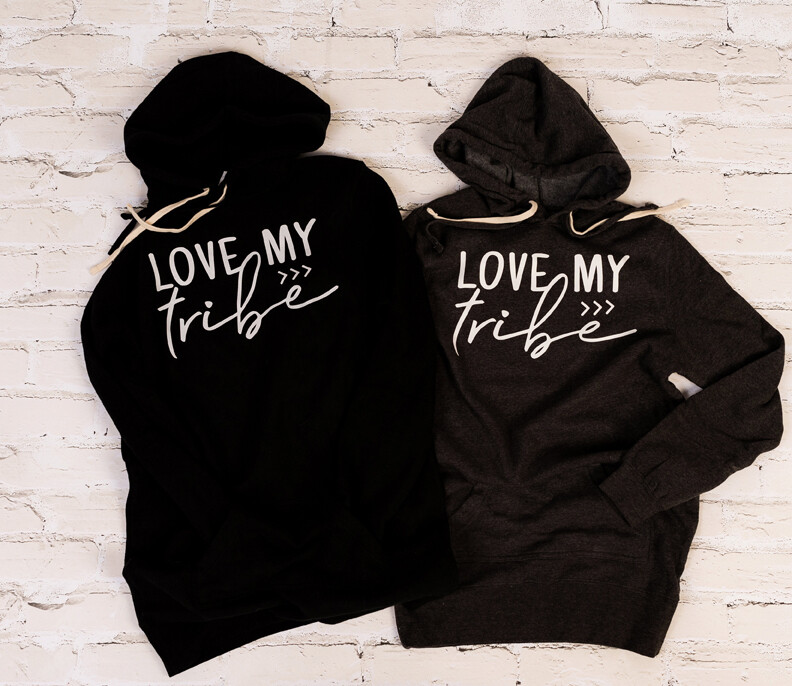 Love My Tribe >>> Independent - Women's Special Blend Hooded Sweatshirt Dress
