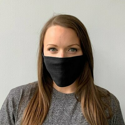 FACE MASKS with Logo or Blank!  Adult & Youth Reuseable - White OR Black Cloth Face Covering