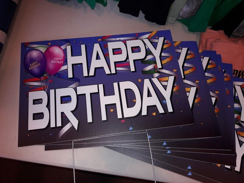 HAPPY BIRTHDAY Yard Sign - Buy or Rent Option!