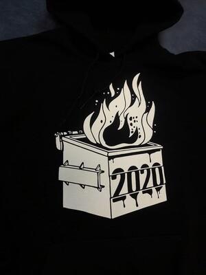 2020 Dumpster Fire Novelty Hoodie