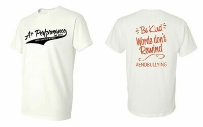 BE KIND Words Don't Rewind 50/50 T-Shirt
