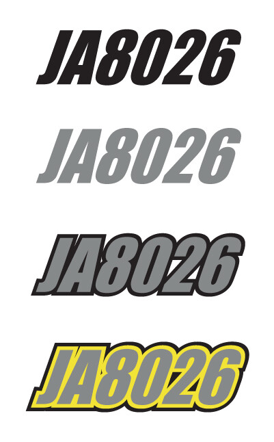 2017 Skidoo MXZ TNT Sunburst Yellow/White - Sled Numbers