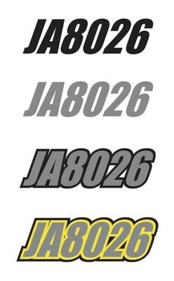 2017 Skidoo MXZ TNT Sunburst Yellow/White - Sled Numbers