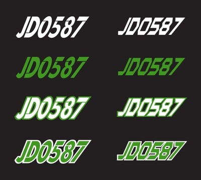 2018 Arctic Cat Cross Country - Sled Numbers