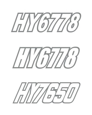 2015 Polaris Axys Pro S - Sled Numbers