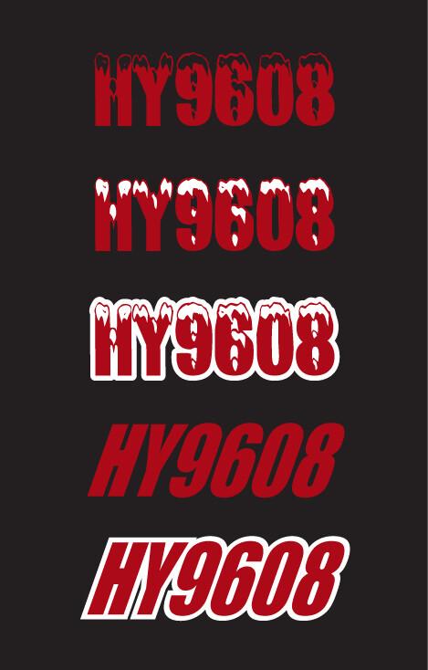 2015 Skidoo Renegade Black w/ Red - Sled Numbers