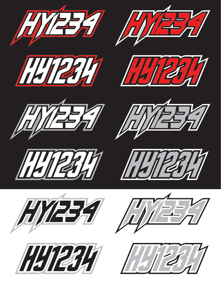 2014 Polaris 800 Pro R - Sled Numbers
