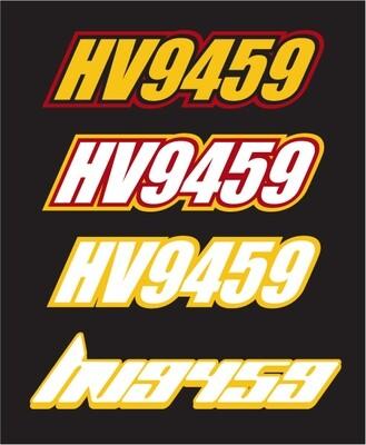 2012 Skidoo 600 MXZ X - Sled Numbers