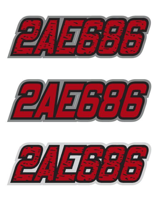 2011 Skidoo Renegade Red/Black - Sled Numbers