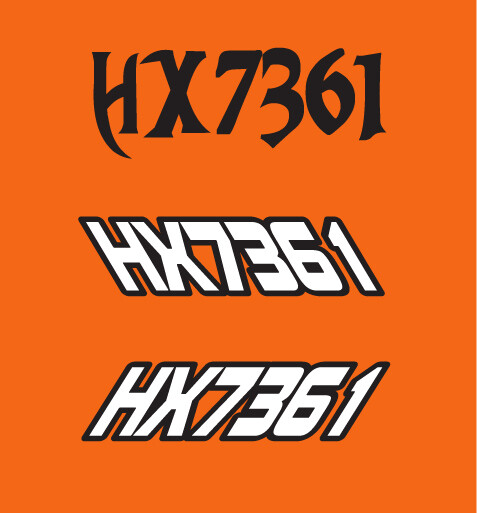 2008 Arctic Cat Crossfire 8 - Sled Numbers