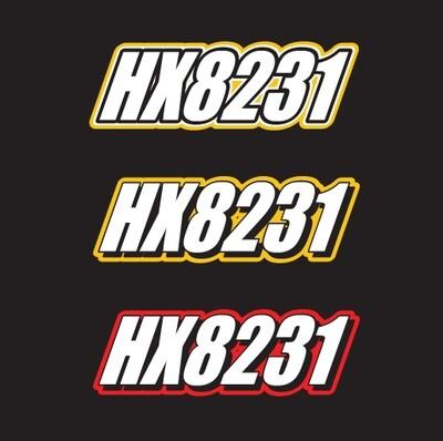 2004 Skidoo MXZ Adrenaline - Sled Numbers