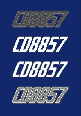 1999 Yamaha SX700 - Sled Numbers