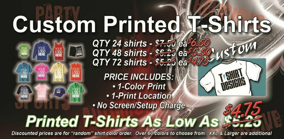 8 Dozen T-Shirt OVERSTOCK Promo Special, 96 - $4.75 each